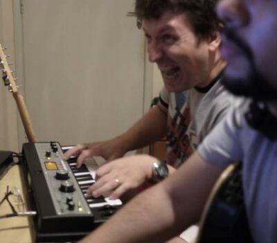 Gravação de Descompasso - Bretas gravando teclados