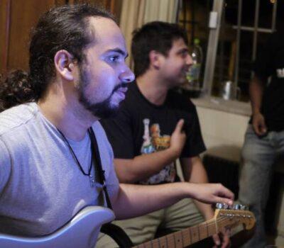 Gravação de Descompasso - Sandro, Rodrigo e Alisson