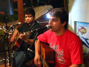 Sandro e Marcio No Mangue primeira apresentação
